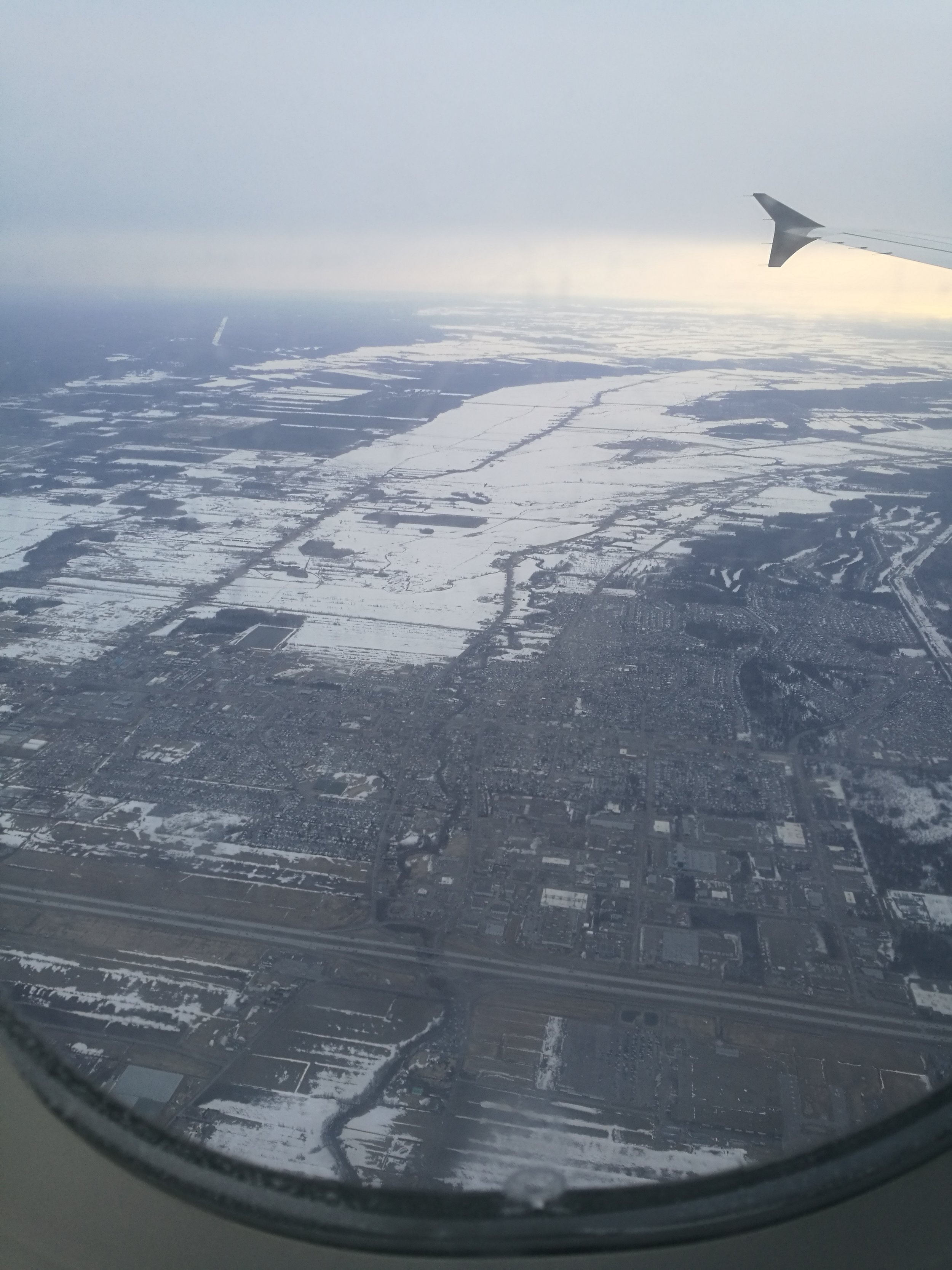 Flying over Eastern canada, Tuesday Morning