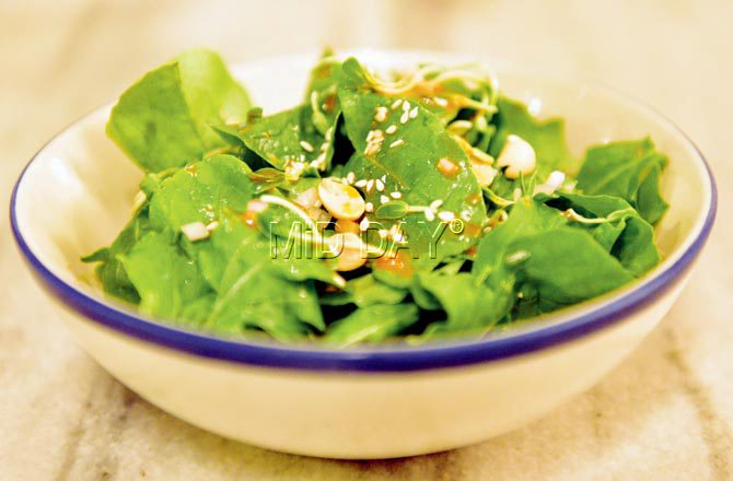 Methi and arugula Salad. Pic/Bipin Kokate