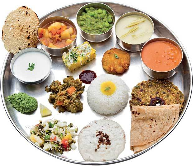 A traditional thali.