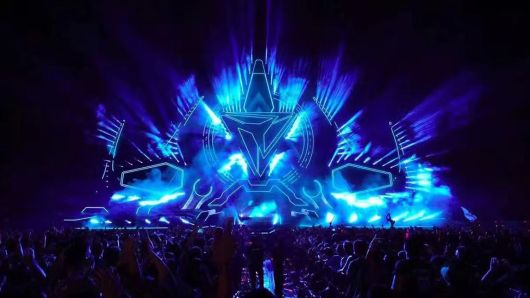Courtesy: A2LiVE  A view of the main stage at Storm, an electronic dance music festival, in Shanghai, China.