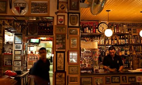 São Cristovão, the São Paulo bar that offers a free history lesson to Brazilian football. Photograph: Alamy