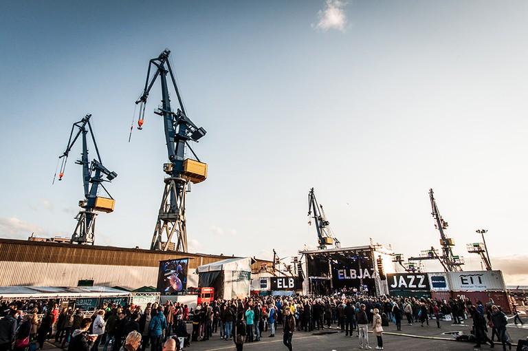 Concert at the Blohm + Voss shipyard |© Dario Dumancic / Elbjazz