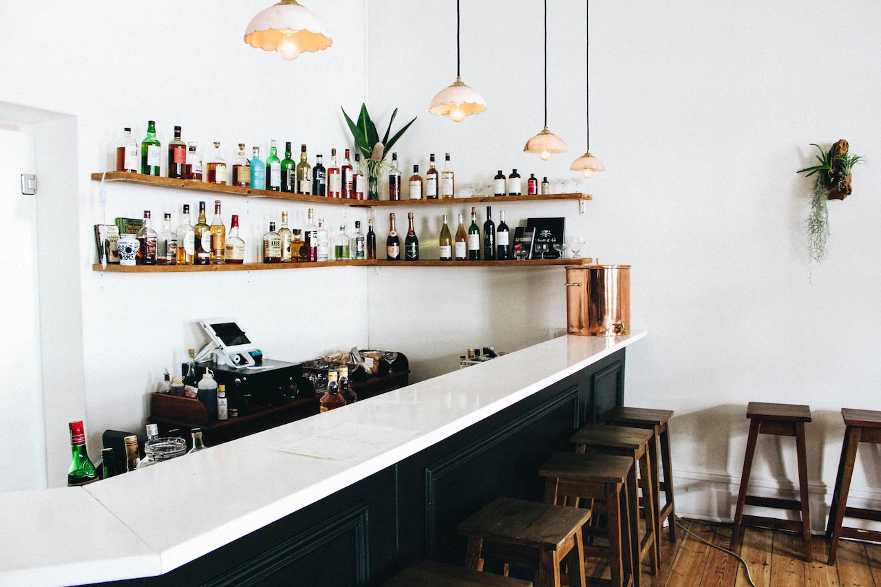 """The """"secret"""" Gin Bar is tucked away in the courtyard of Honest Chocolate on Wale street"""