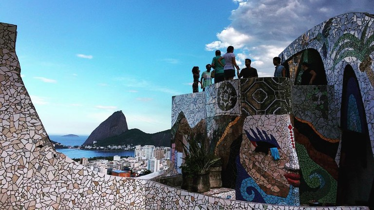 The Maze in Rio de Janeiro with stunning mosaics and a gorgeous view | © Bob / The Maze