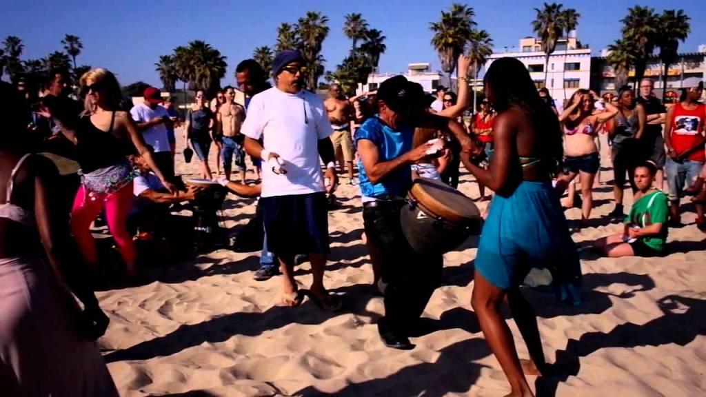 Venice Beach party courtesy of  youtube .