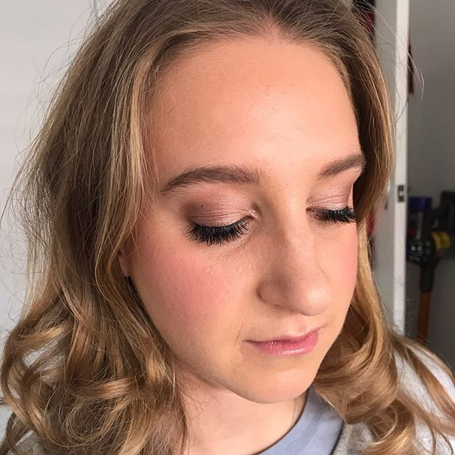 MICHELLE ✨ Soft rose gold eye and a flushed cheek for this little gem . Using my new fave @westmanatelier vital skin foundation stick for natural looking skin @stilacosmetics convertible colour in lillium on cheeks and @chantecaille Lip chic in Camellia . . . #eventmakeup #makeupartistmelbourne #freshskin #naturalglam #naturalbeauty #pinkcheeks