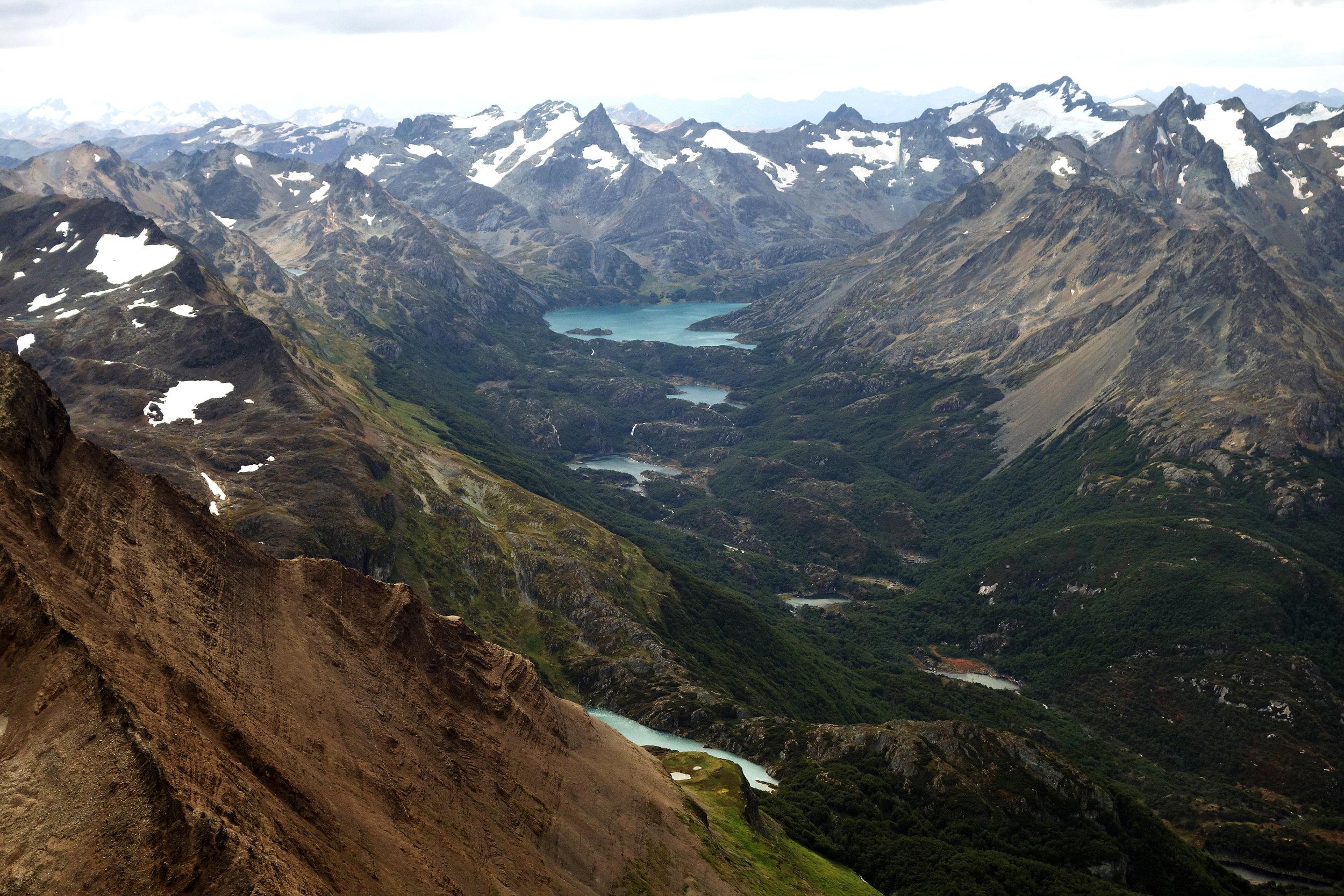 Looking northwest from the summit of Cerro Tonelli, Argentine Tierra del Fuego
