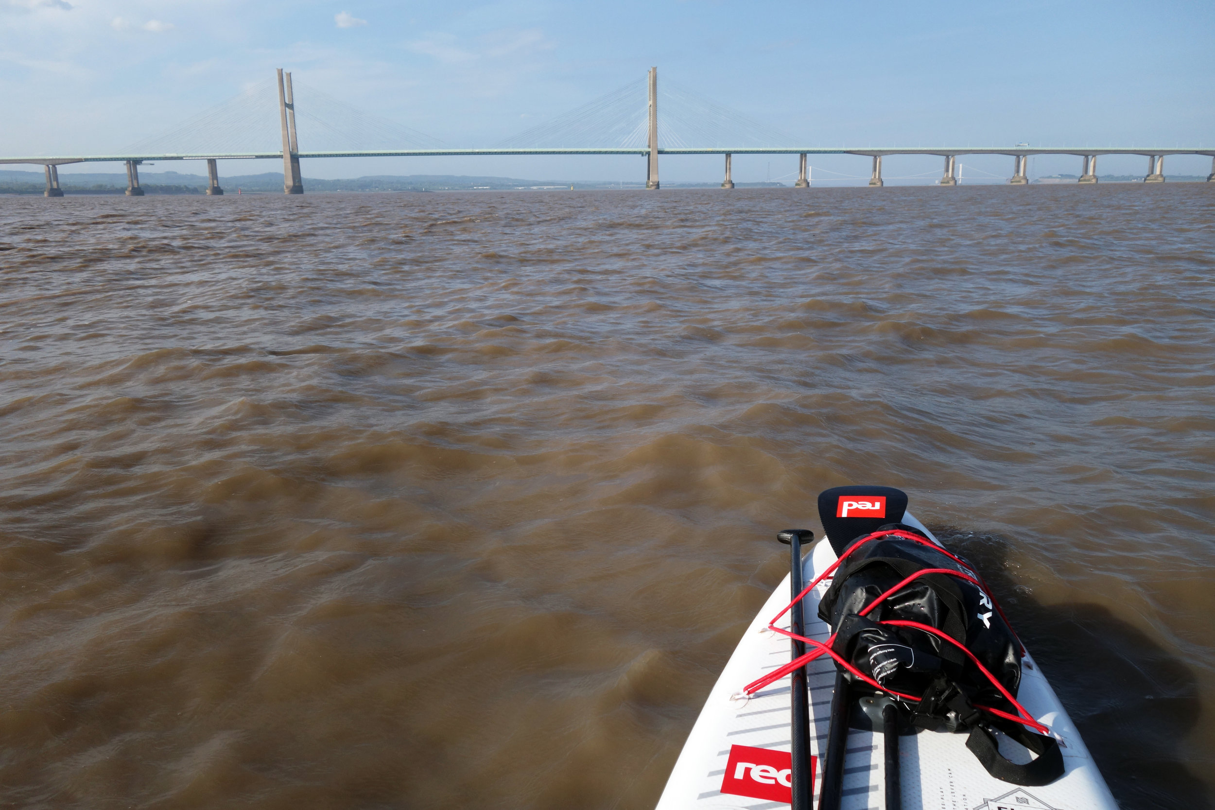 Approaching the New Severn Crossing via the Shoots Channel on an 8 knot spring tide