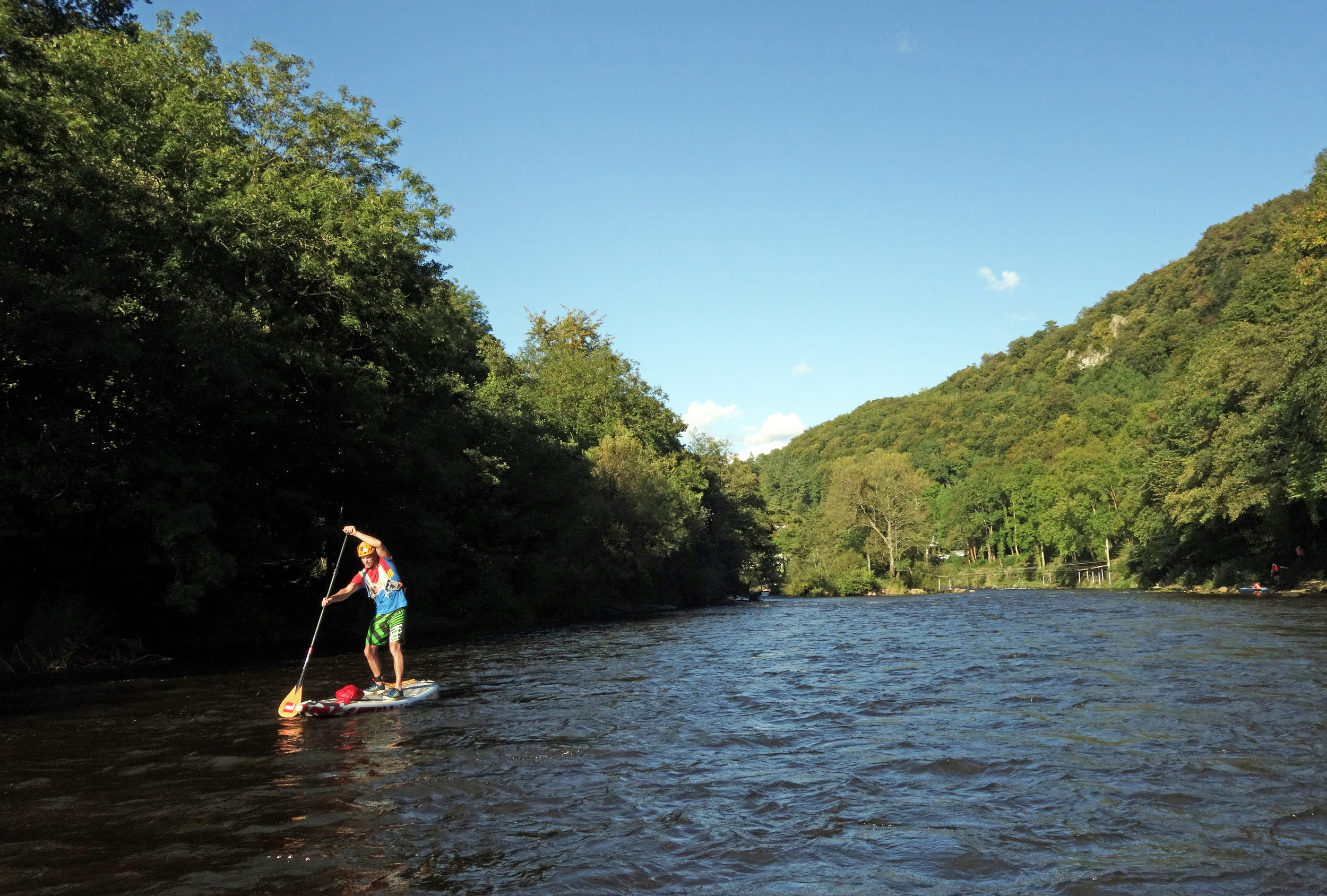 Just downstream of the rapids at Symonds Yat, river Wye