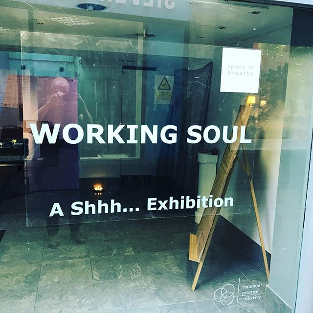 Our Working Soul exhibition has just opened at 35 Chapel Walk Gallery in Sheffield (just off Fargate) - we are open till 730 tonight then finish with a meditation. We'd love to see you :)