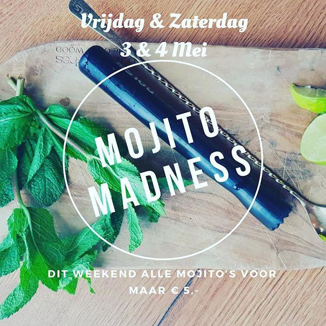 MOJITO MADNESS 🍋  Dit weekend het gehele weekend mojito's voor maar € 5,-! Ook te bestellen bij @swinggouda  #mojito #madness #dependancegouda #marktgouda #weekend #cocktails #cocktailbar #bartenders