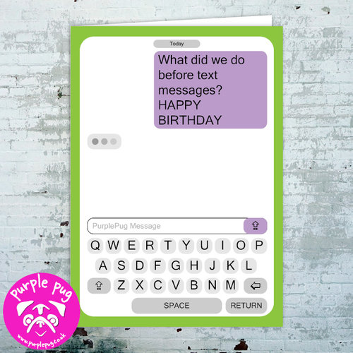 Happy Birthday Text Message Greeting Card