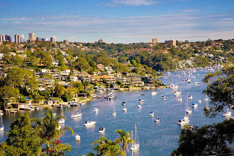 The beautiful waterways around Warringah, in Sydney