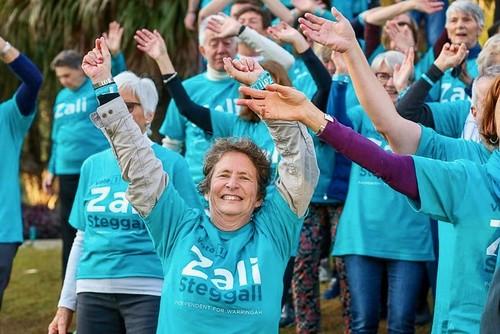 Zali volunteers getting into the spirit