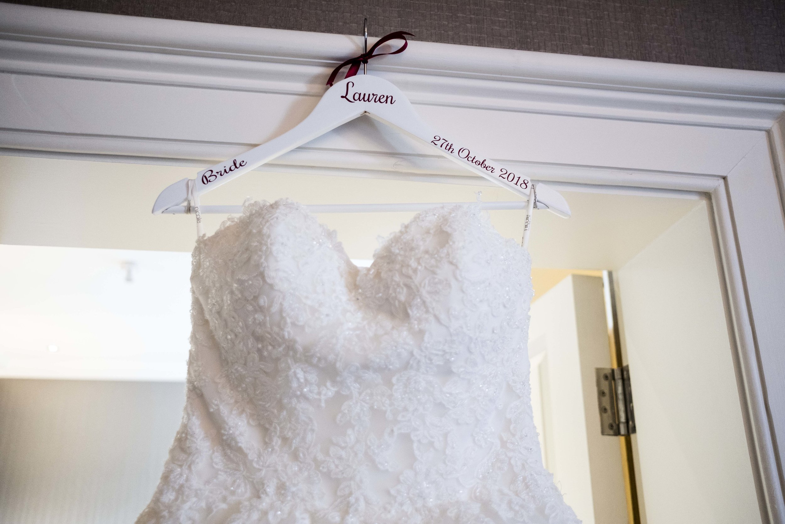 wedding hanger Ashley liv Jamieson photography