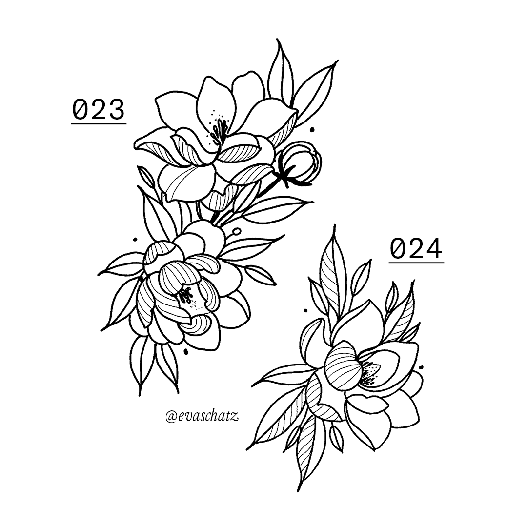 Copy of Flower, Blumen Tattoo, Eva Schatz, MINT CLUB Tattoo Salzburg