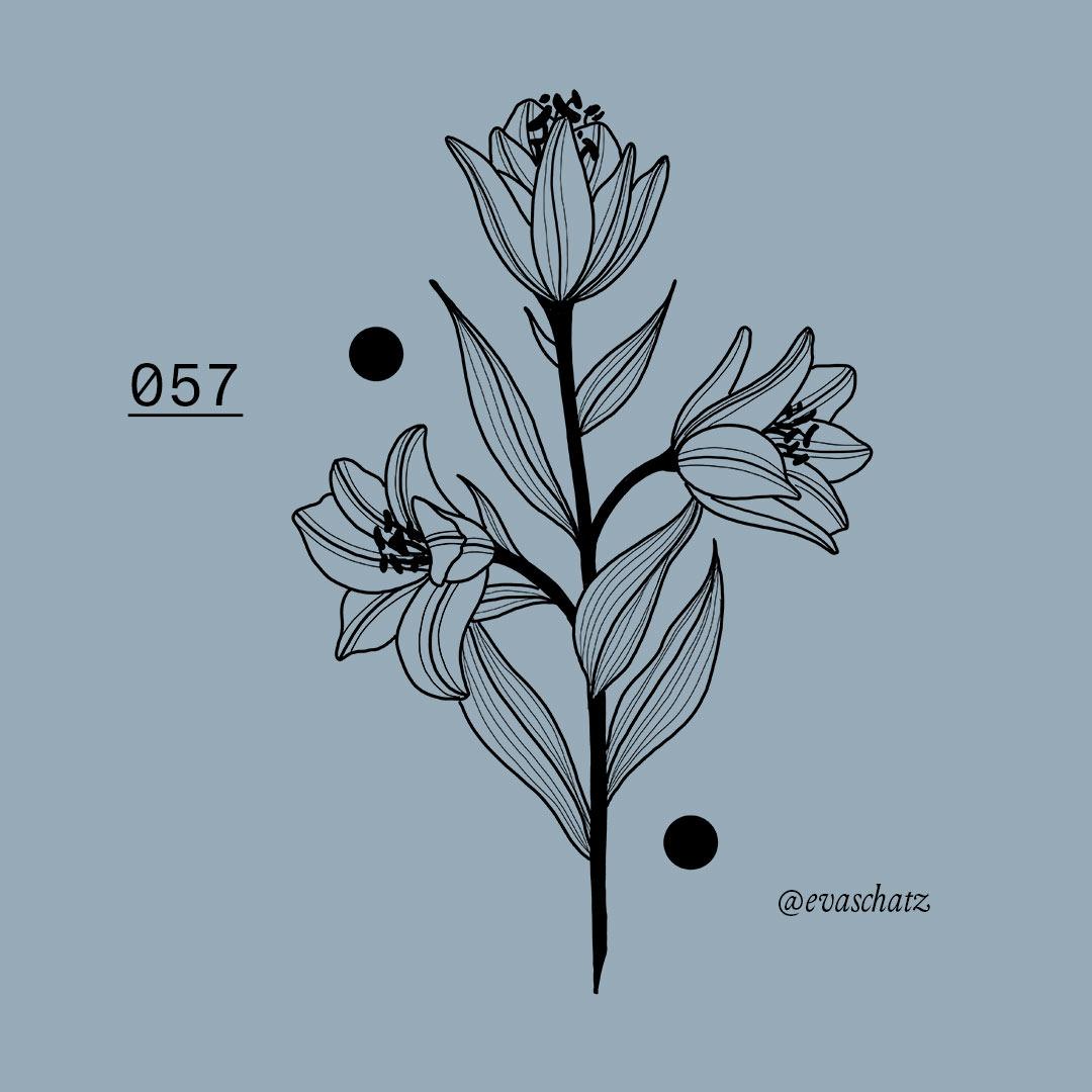 Copy of Lilien Lily Flower Blumen Tattoo, Eva Schatz, MINT CLUB Tattoo Salzburg