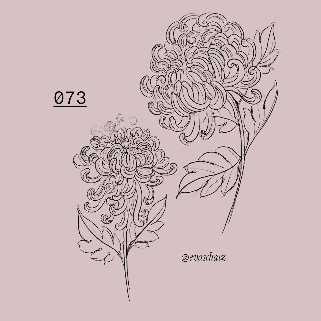 Copy of Chrysantheme Flower, Blumen Tattoo, Eva Schatz, MINT CLUB Tattoo Salzburg