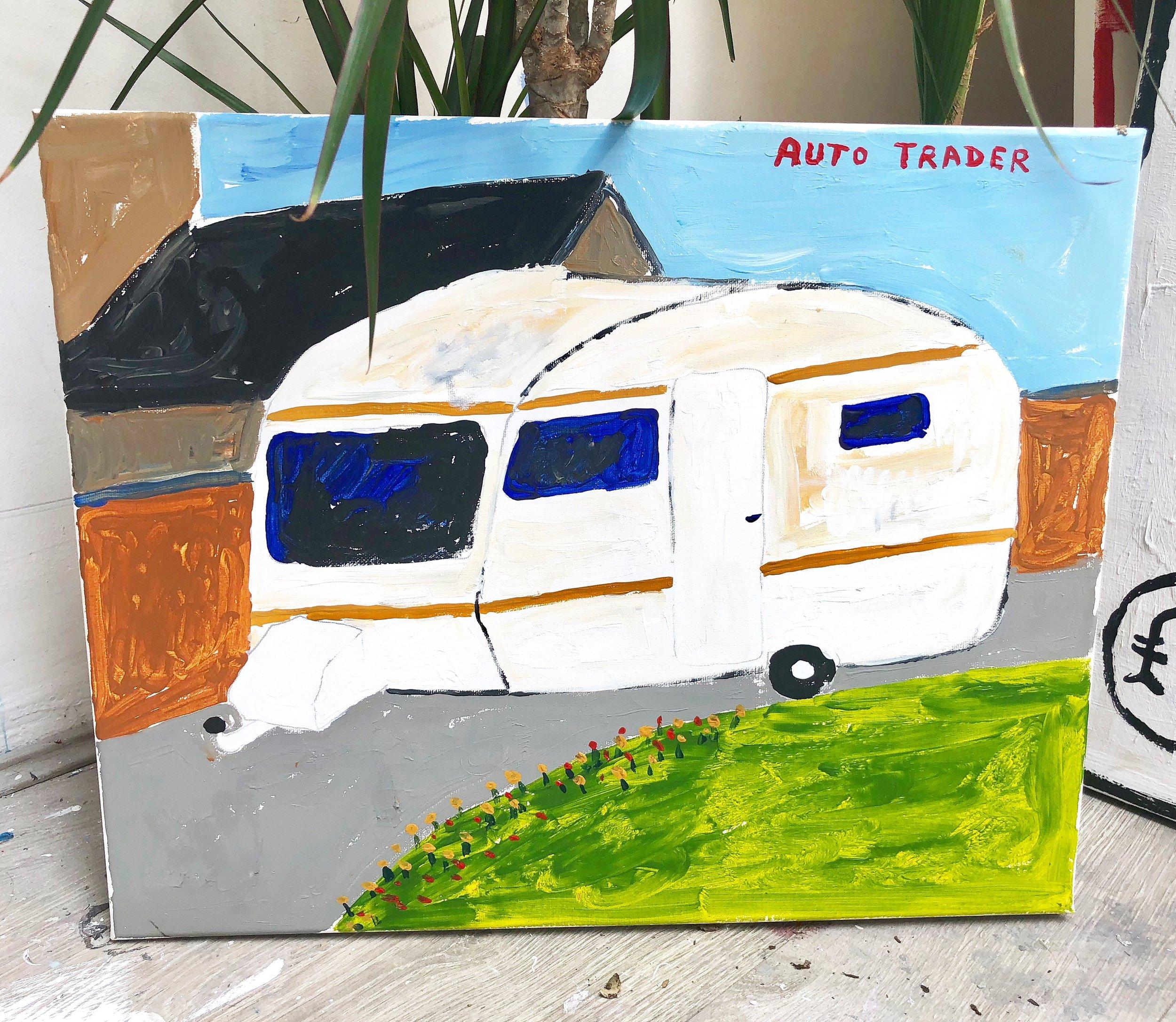 Auto Trader, Richie Culver, acrylic on board, 2018.