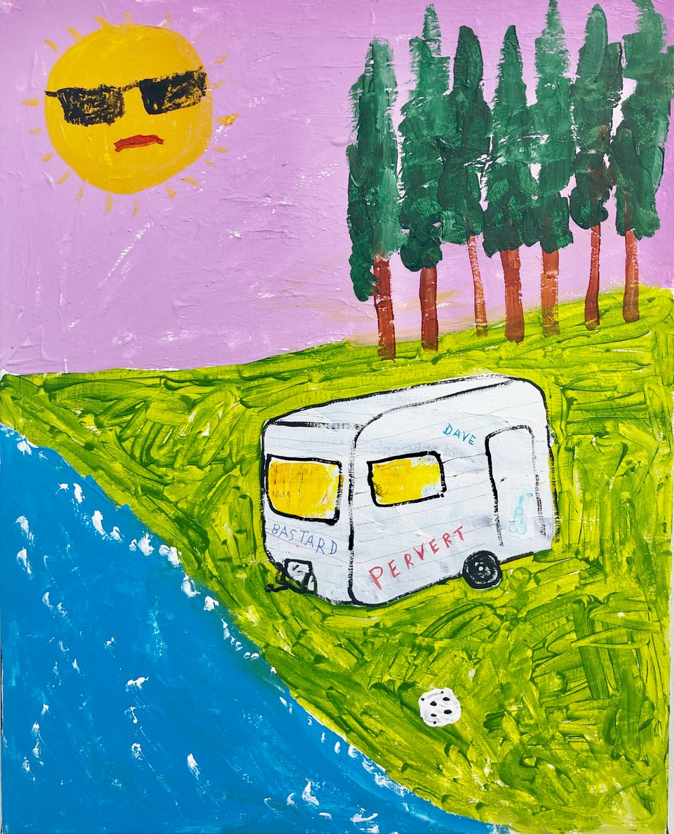Richie Culver - Latest work - Caravan by the river