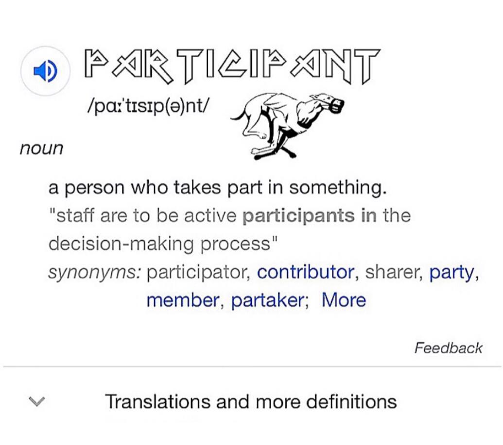 Participant - Definition - Richie Culver