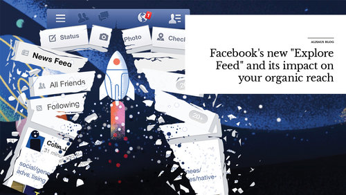 Illustration of rocket ship breaking webpage