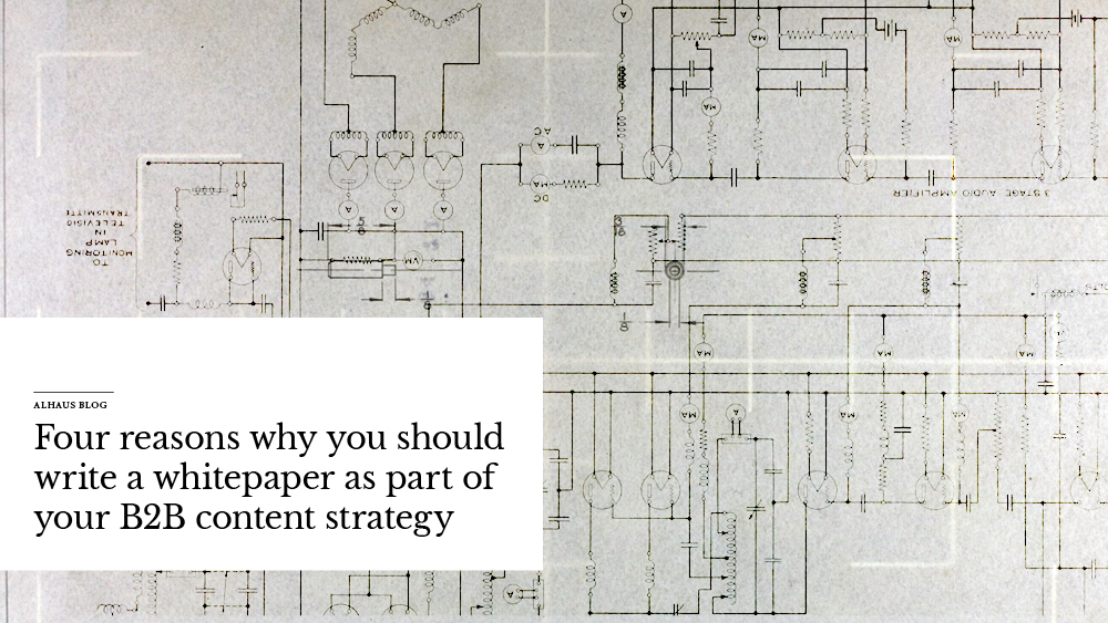 Illustration of blueprints with text overlay
