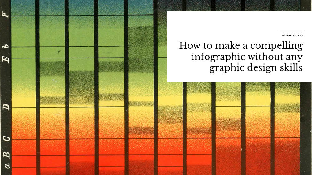 'How+to+make+a+compelling+infographic+without+any+graphic+design+skills'+over+image+of+colors+and+bars+graphs.jpg