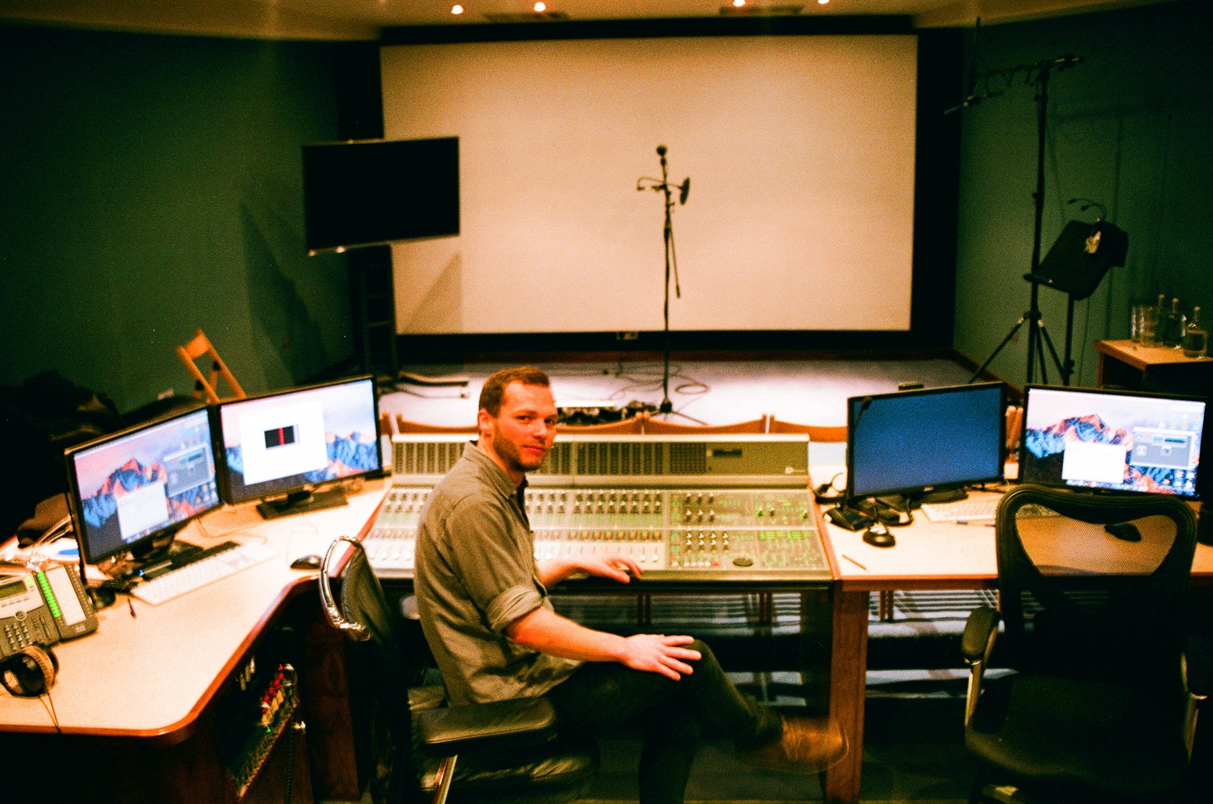 Jim Goddard at work in Boom, a post-production studio based in Soho, London.