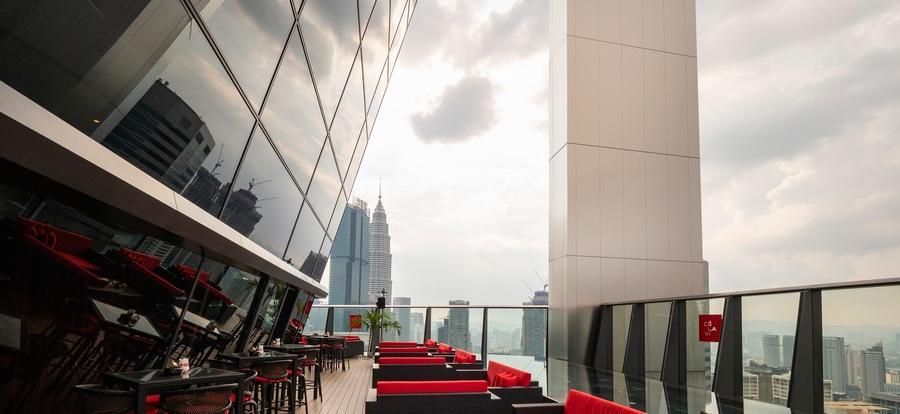 Cé La Vi Kuala Lumpur lounge terrace