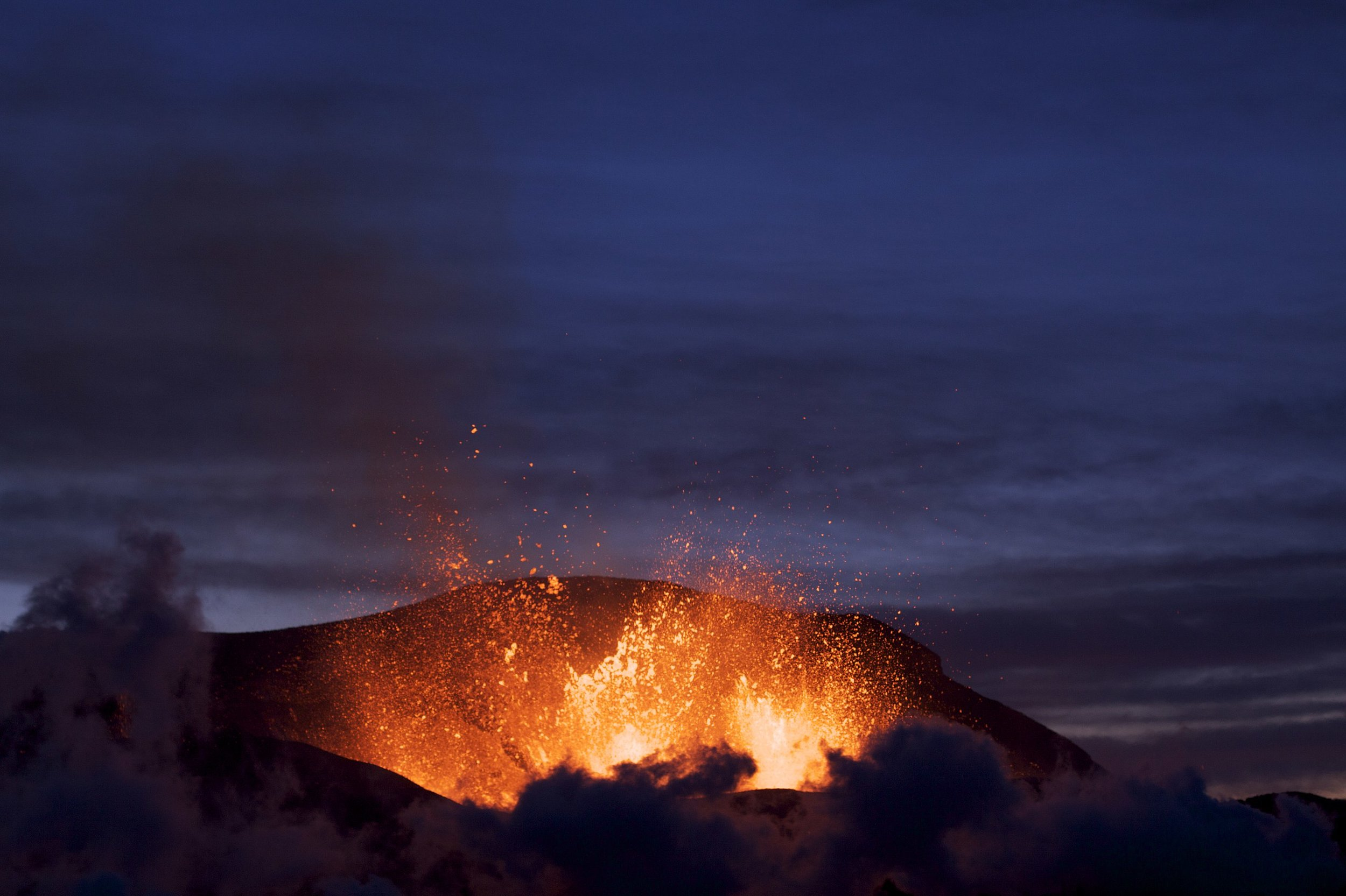 The Icelandic volcano Fimmvörðuháls in 2010. By Boaworm - Own work, CC BY 3.0, https://commons.wikimedia.org/w/index.php?curid=10025261