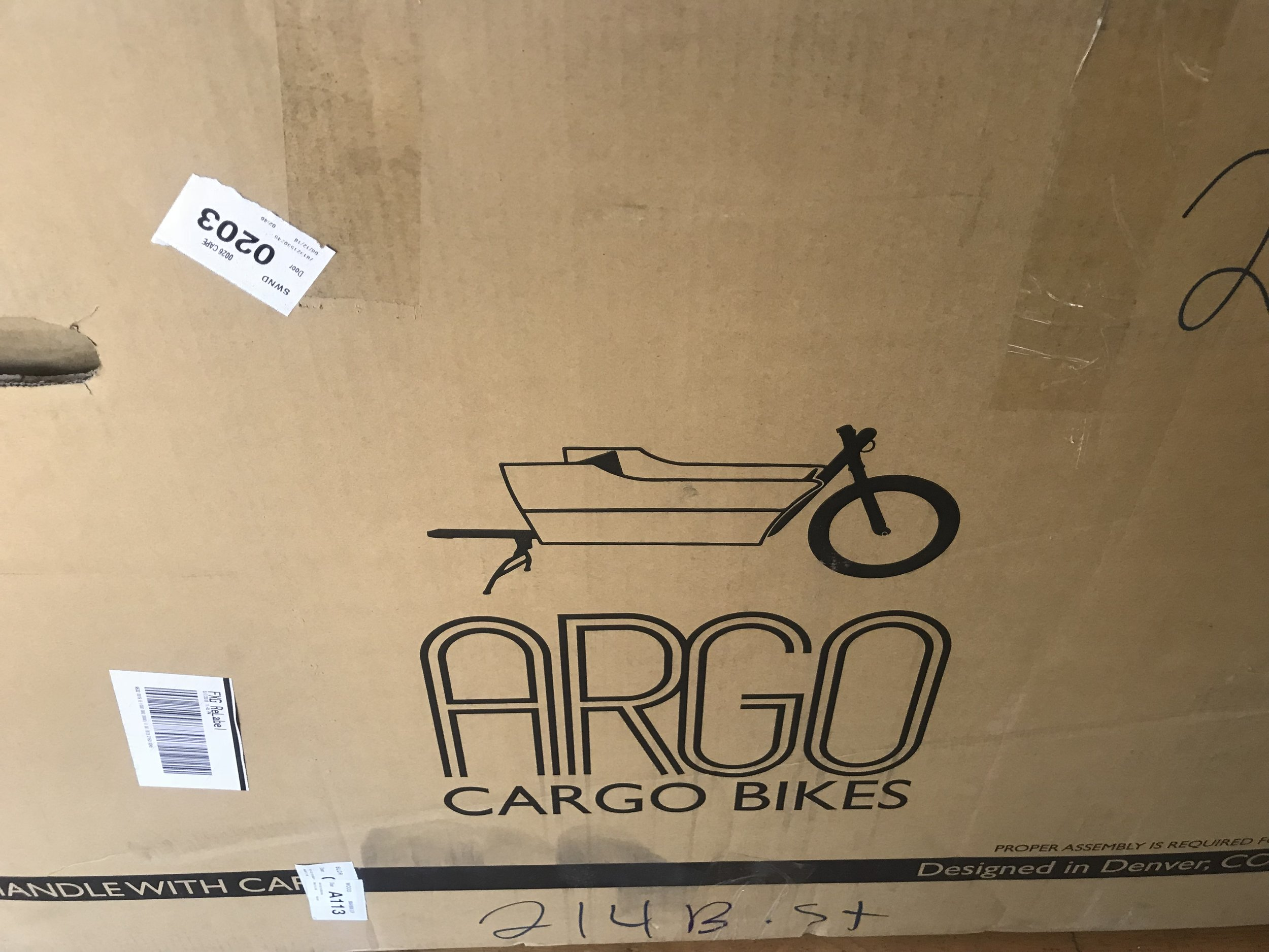 The box the Argo arrived in