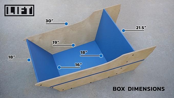 The original Lift box dimensions are pretty close to the final version of the Argo