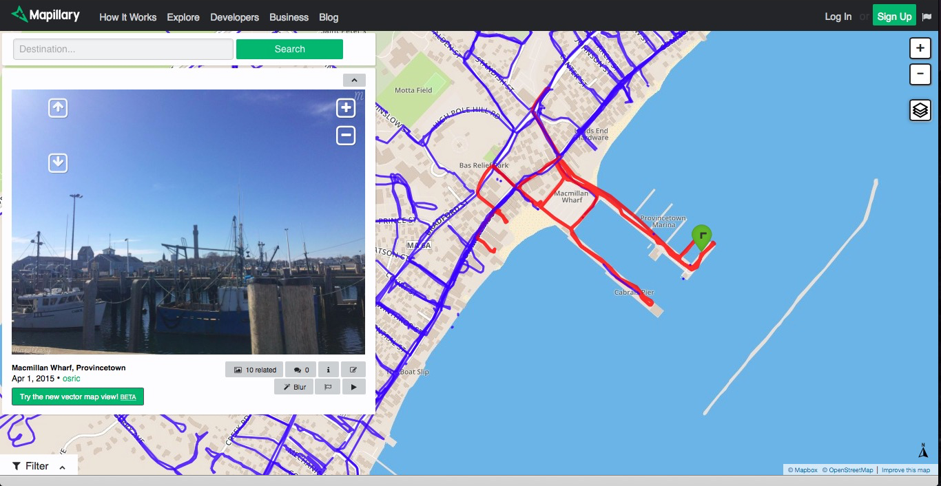 This map on Mapillary shows the streets I've photographed in Provincetown