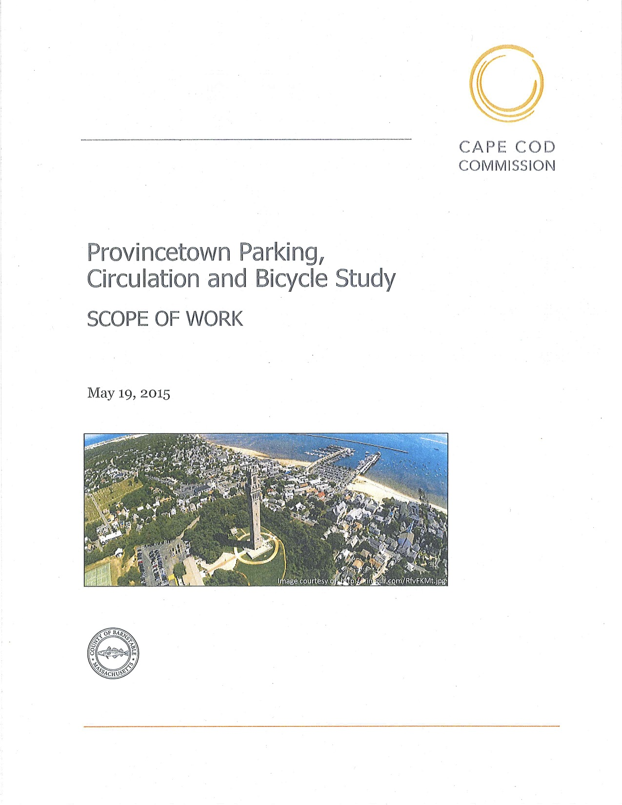 2015 Provincetown Parking, Circulation and Bicycle Study Scope of Work - cover