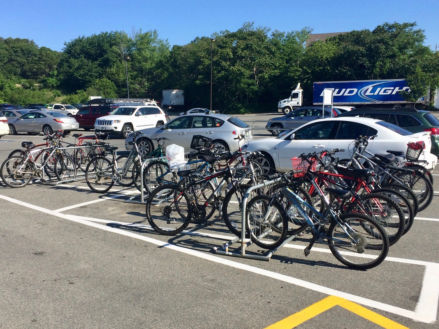 Bike parking at Stop & Shop in Provincetown.