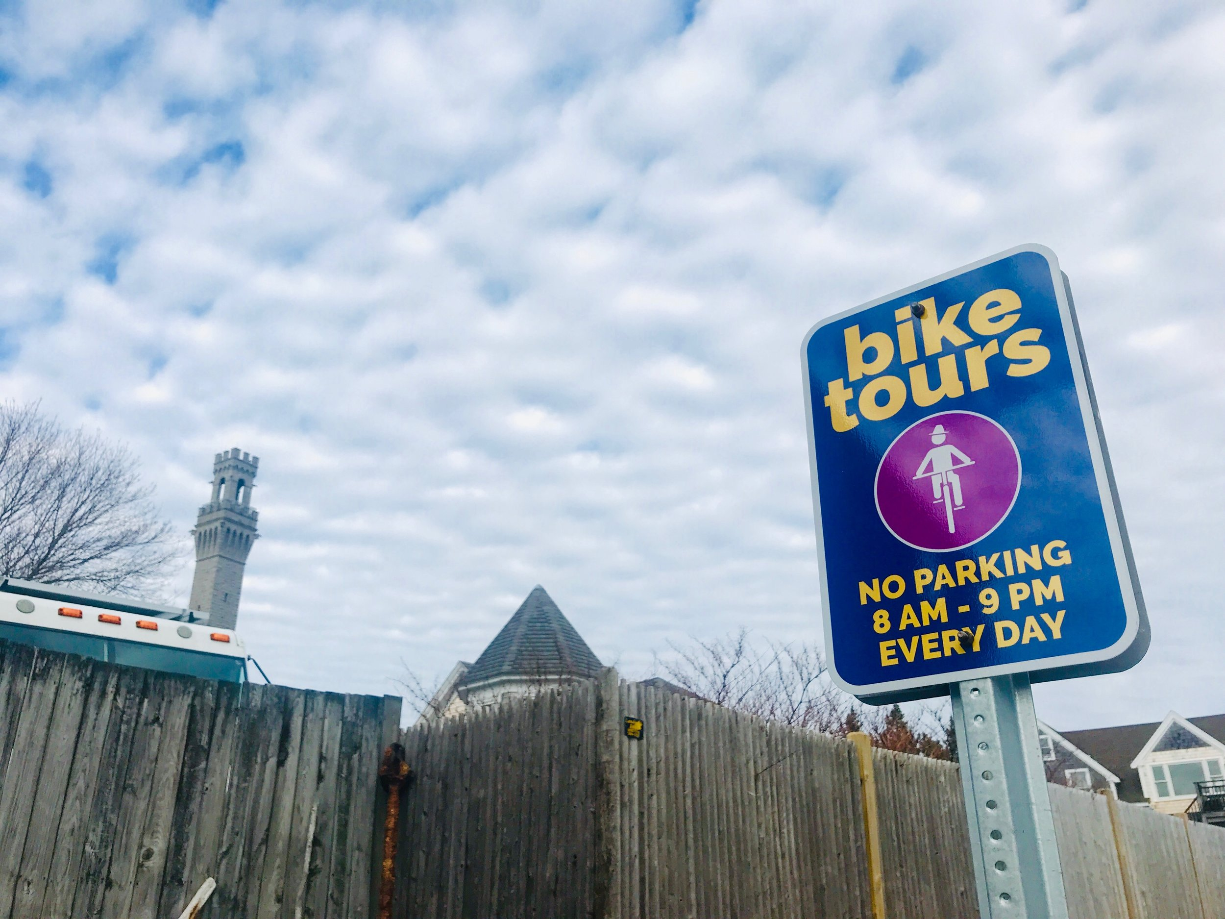Look for the bike tours sign next to Art's on Standish Street.