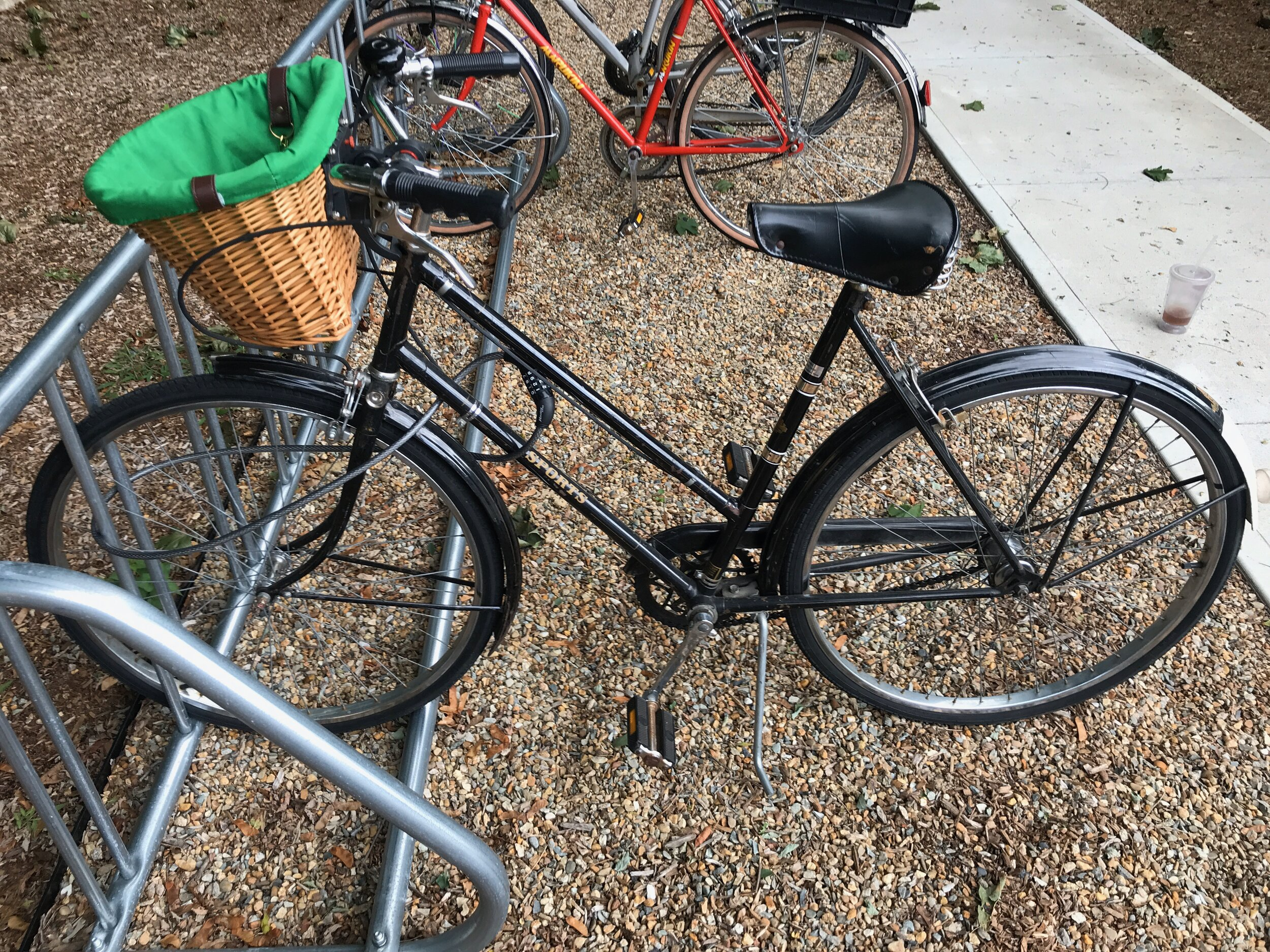 My vintage Raleigh Sports 3-speed is great for exploring town in style!