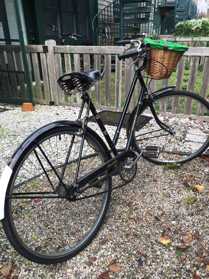 A circa 1970 Raleigh Sports 3-speed bicycle.