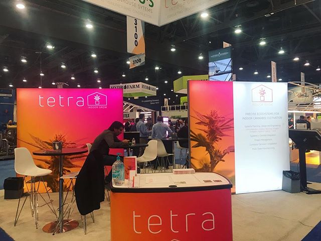 Things are getting started and we are excited to be here! Come see us in booth #3059! . . . . . . #TetraIndoor #cultivate #cannabis #cannabiscommunity #cannabisdaily #growsomethinggreen #greenhouse #farm365 #lightdep #indoorgrow #growroom #cbd  #thc #scrog #cannabinoid #sustainablecannabis #startup #agtech #tech #mmj #mjbizcon #lasvegas