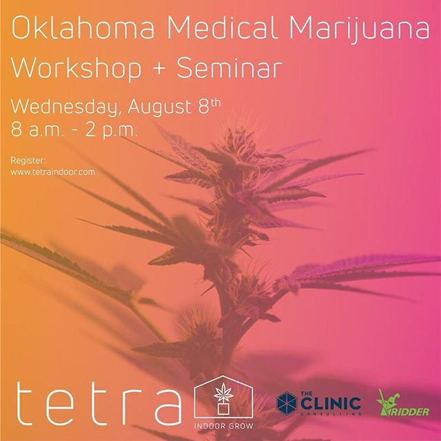 Join us on the 8th! Oklahoma is moving quickly and you don't want to miss the opportunity to put in your application. We'll review laws and regulations, how those impact the design and build of your facility, and facilitate a design workshop. Hear from Josh, Grow Operations Manager, at @theclinic_colorado and Alfredo Biffi, Project Development Engineer at Ridder. Afterwards, join us for life bites and drinks. Link in profile → . . . . . . #TetraIndoor #cultivate #cannabis #cannabiscommunity #cannabisdaily #growsomethinggreen #greenhouse #farm365 #lightdep #indoorgrow #growroom #cbd  #thc #scrog #cannabinoid #womenincannabis #sustainablecannabis #startup #agtech #tech #oklahomacity #oklahoma #oklahomacannabis #oklahomammj #workshop #mmj