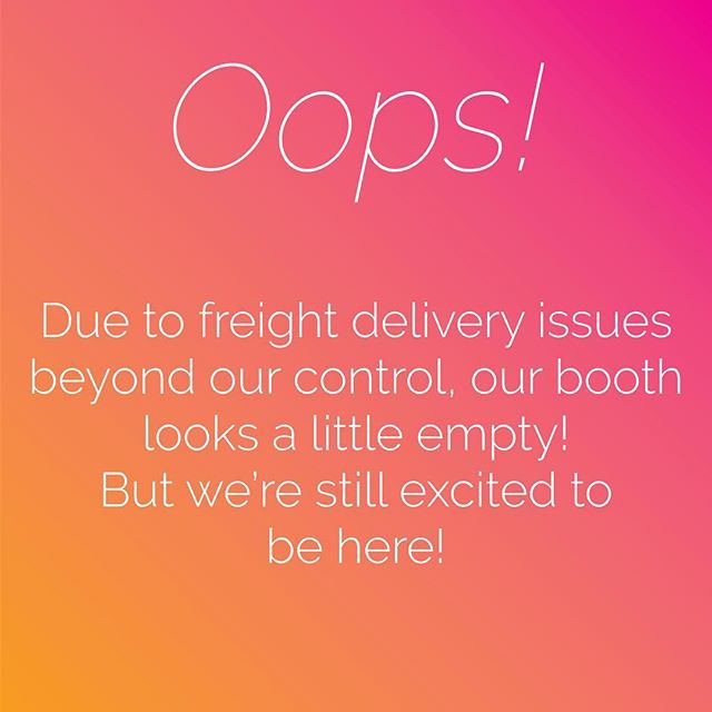 Sh*t happens, right? Due to some wrongly sorted packages (thanks a lot, @ups) and some major issues with our freight delivery...our booth looks a little sad. But what can ya do? 🤷‍♂️🤷‍♀️ • We're still excited to be in Boston for @nationalcannabisindustry #SeedtoSaleShow, some stop by and see @mmjindoor (Dennis)! We promise things will look better next time. 😉