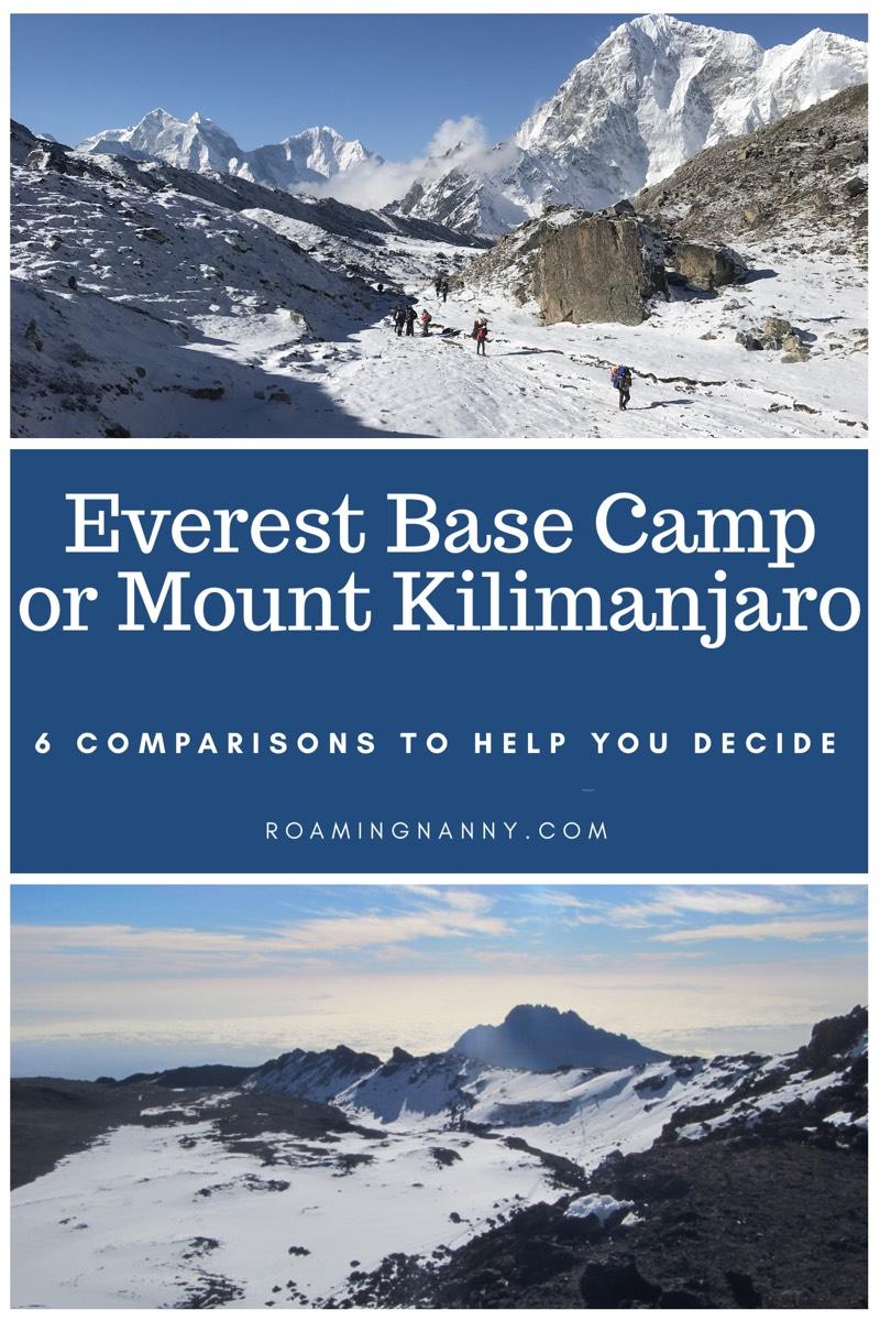 Everest Base Camp or Mount Kilimanjaro: 6 Comparisons to Help you Decide