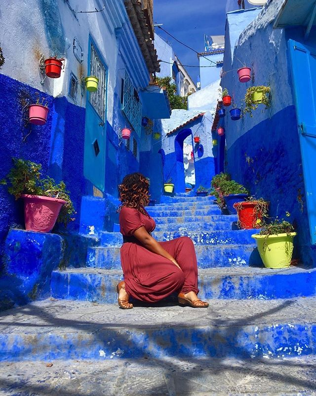 It's Feature Friday Adventurers and today we have @abroadwithbee!  She has visited 39 countries and 5 continents with no end in sight. Bright colors and endless fun, that girl has got it going on! Keep it up lady! 😘 - - - - - #feature #featurefriday #travelgirl #morocco #visitmorocco #bluepearl #girlslovetravel #girldiscoverers #allthecolors #sheisnotlost #travelgram #solotravel