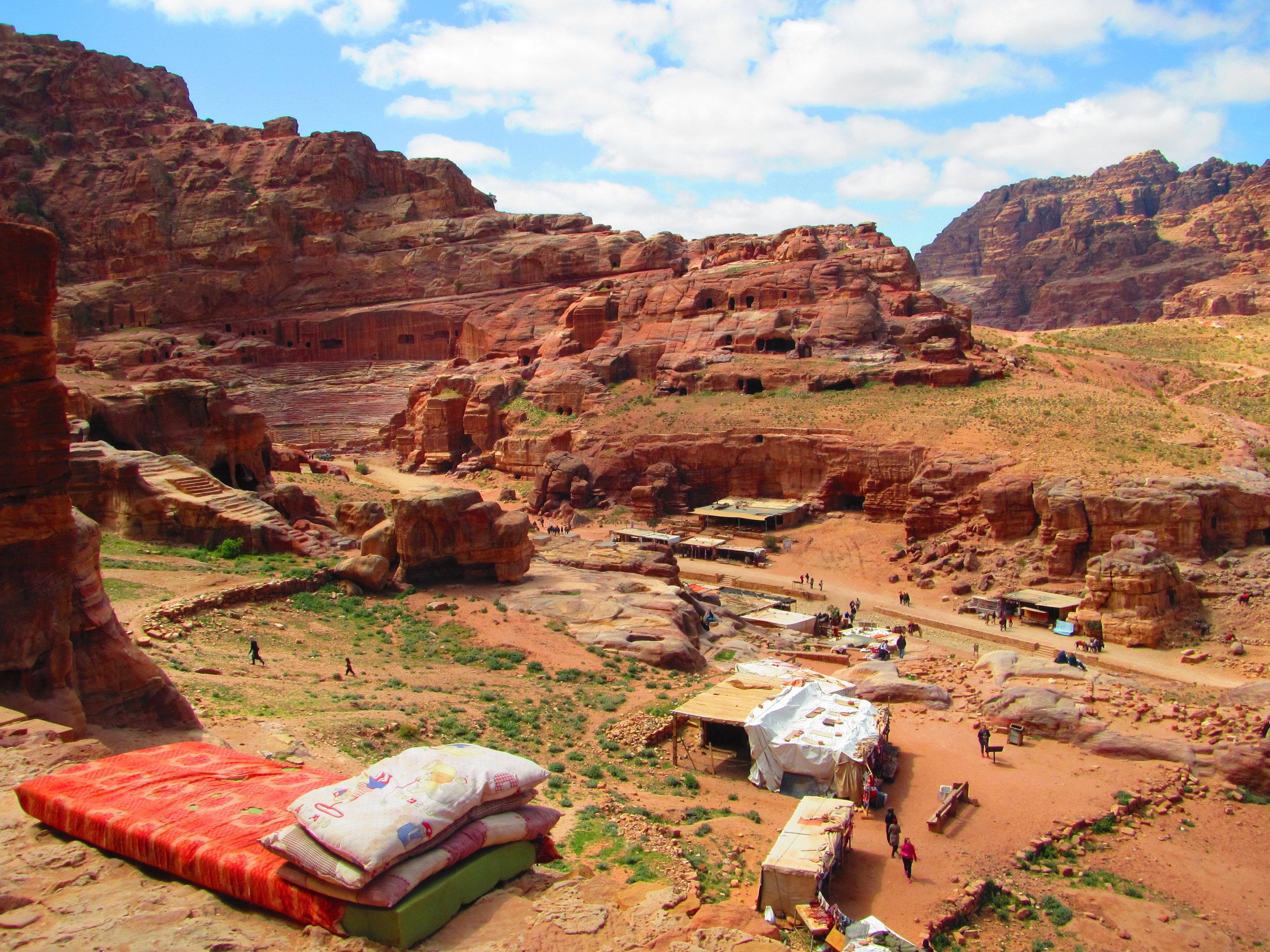 Inside Petra in Jordan
