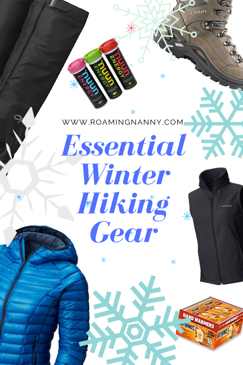 Going hiking the with right gear is important, even more so in the winter. This list of winter hiking gear will ensure you have a great time exploring in the snow and cold!