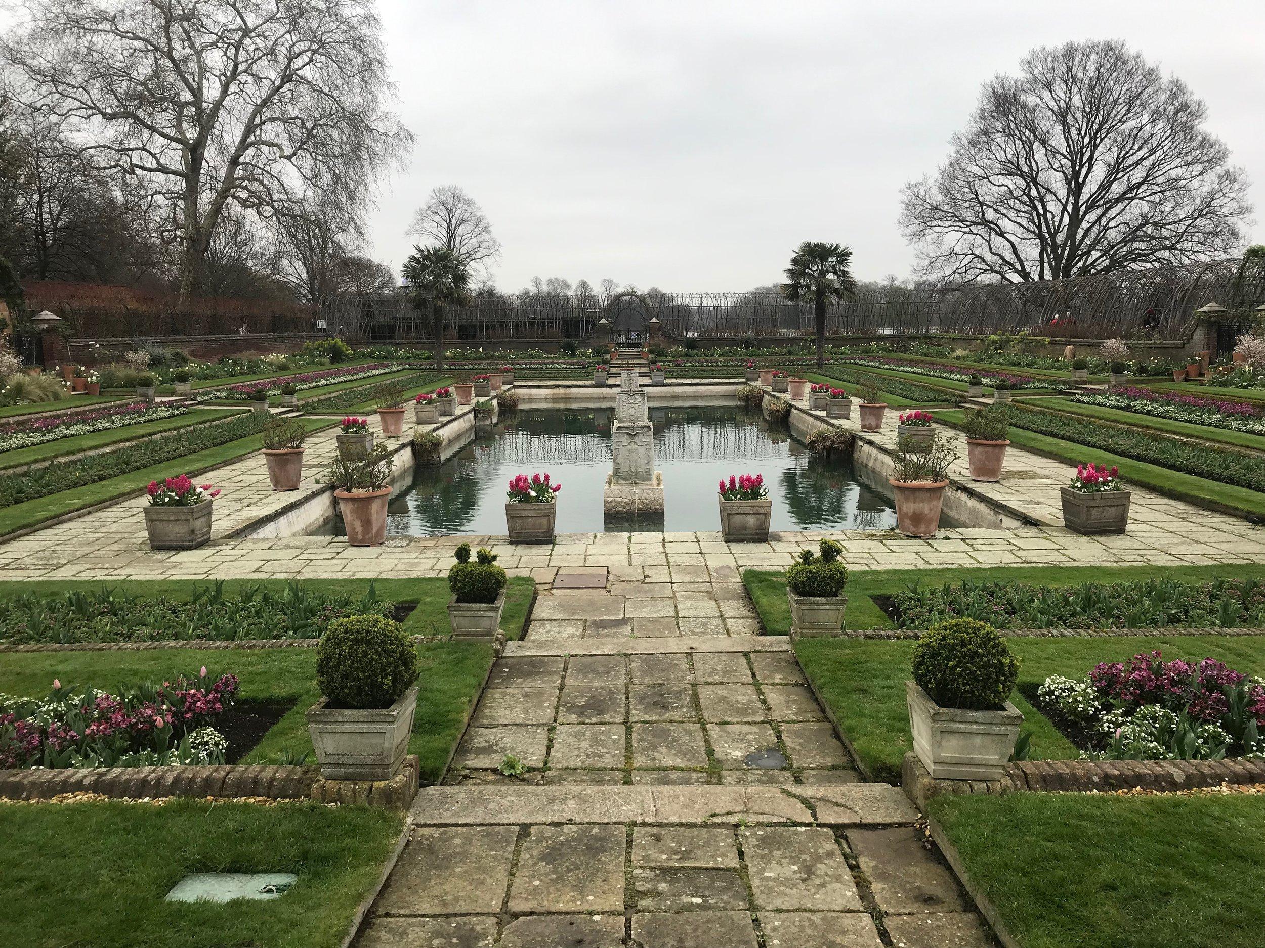 Visit London - The Sunken Garden at Kensington Palace