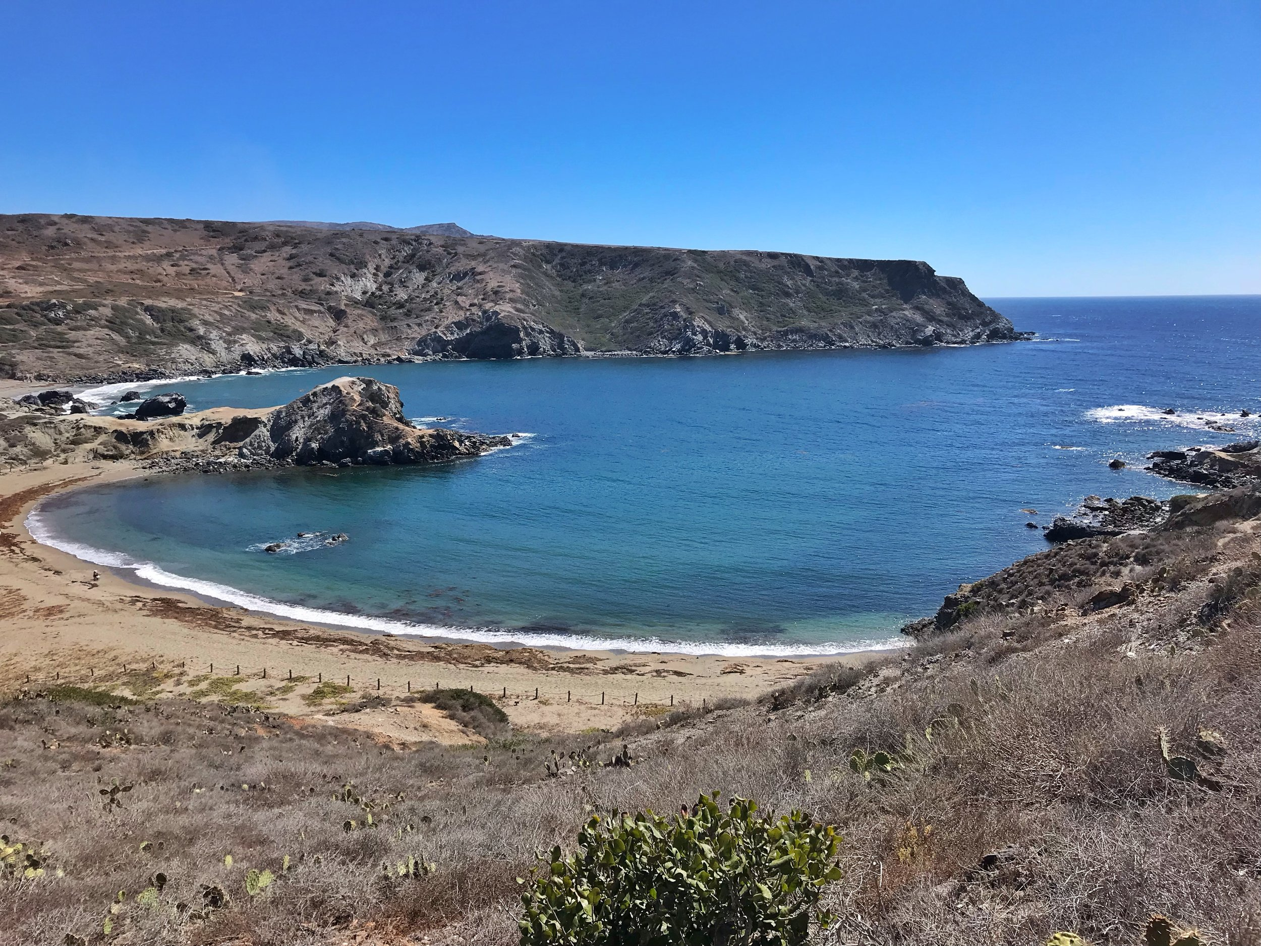 Hiking the Trans Catalina Trail Beach View