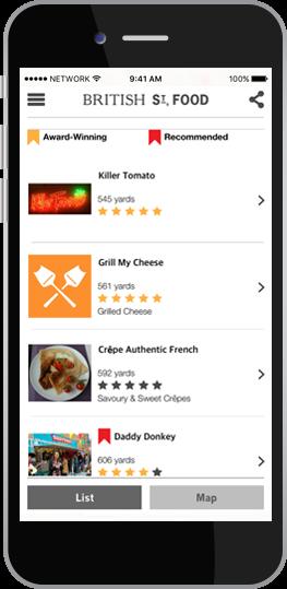 British Street Food App
