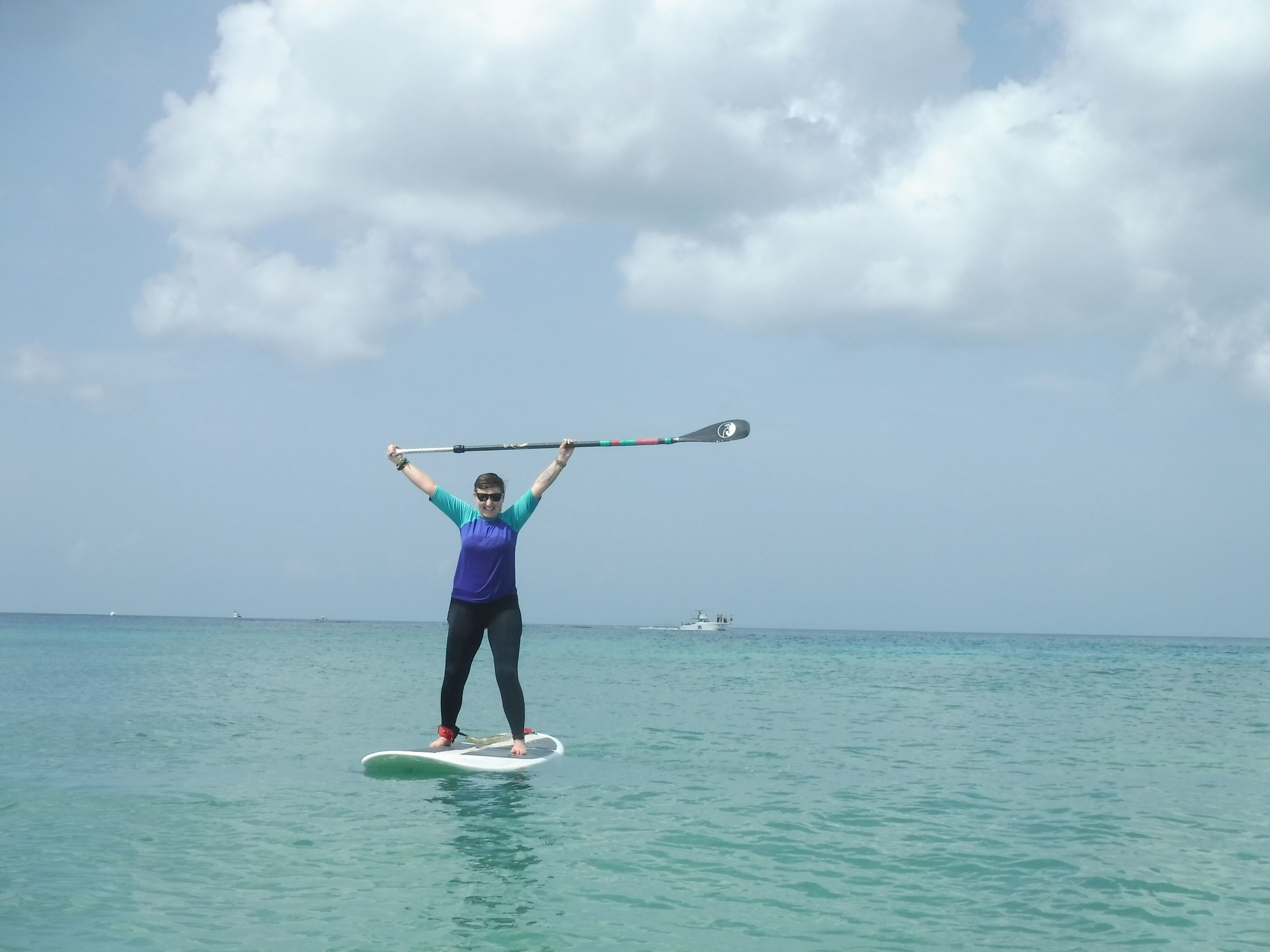 Paddleboarding with Ha'Haak Water Adventures Cozumel Mexico